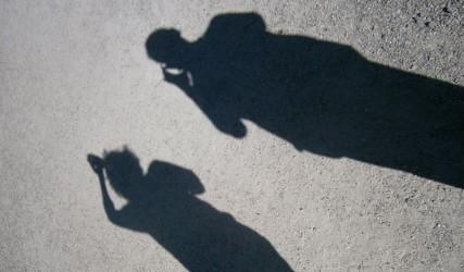 Zwei Schatten in Schönbrunn, Wien