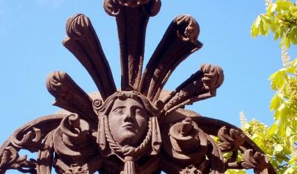 Gusseiserne Ornamente, Schloss Schönbrunn, Wien