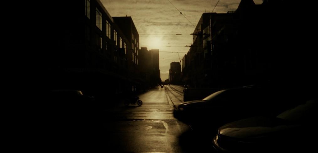 intersection sunrise