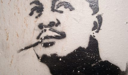 Smoking portrait (Stencil), Detail