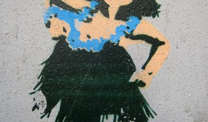 Blue hula girl (Stencil)