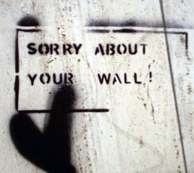 Sorry about your wall (Stencil)