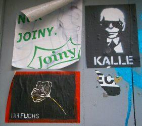 Stickers, Tor an der Brause