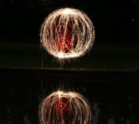 Red Spiral Orb