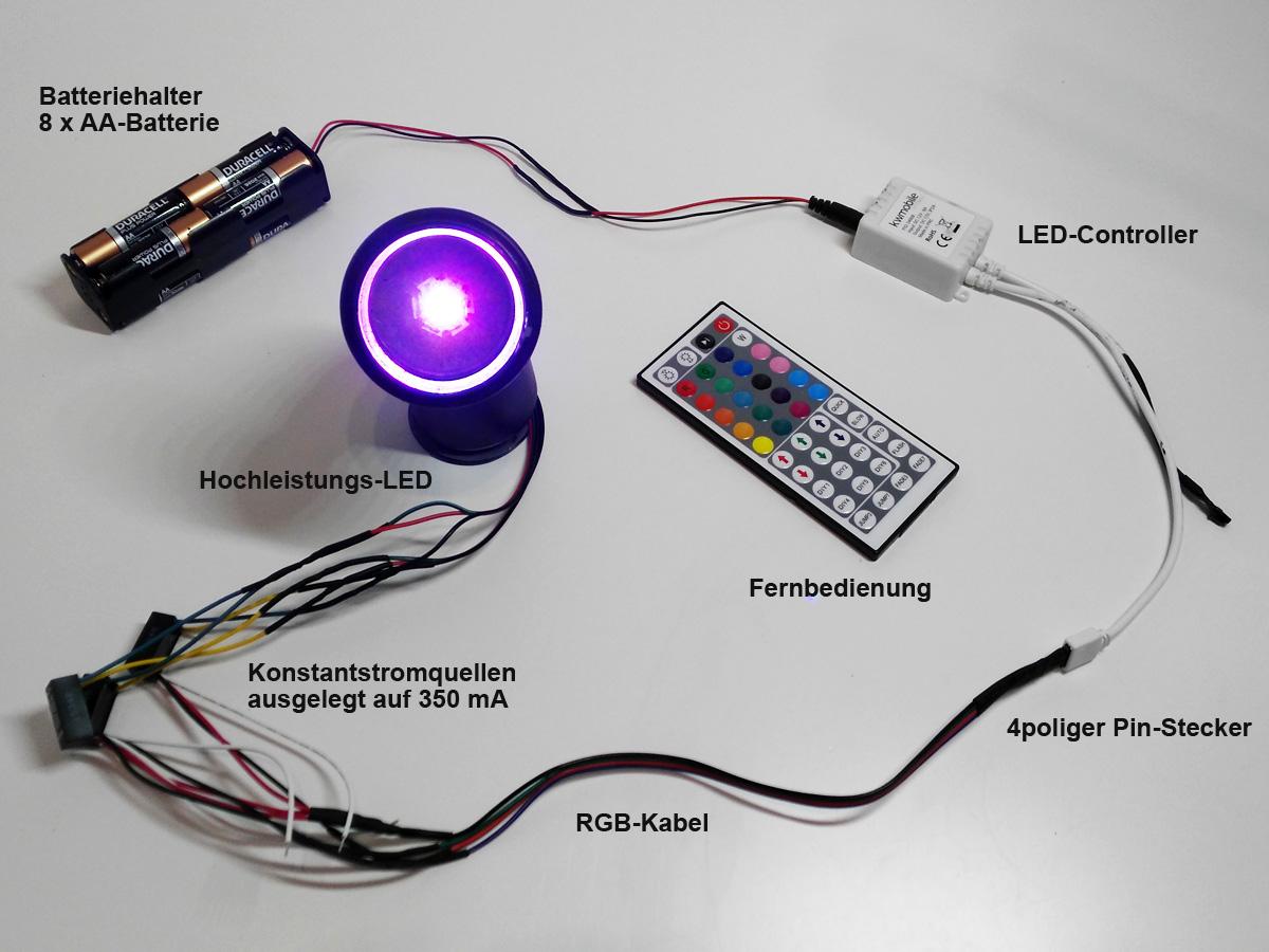 Schaltkreis mit LED und Controller testen