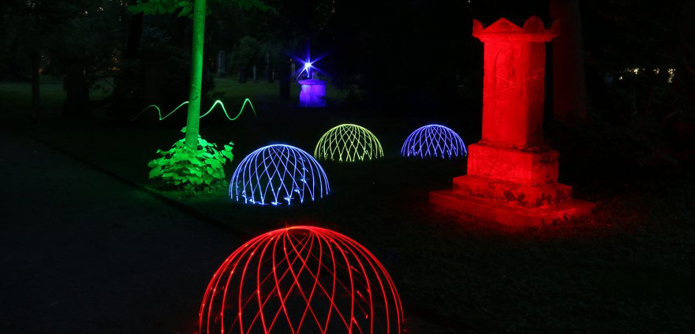 Lightpainting Domes