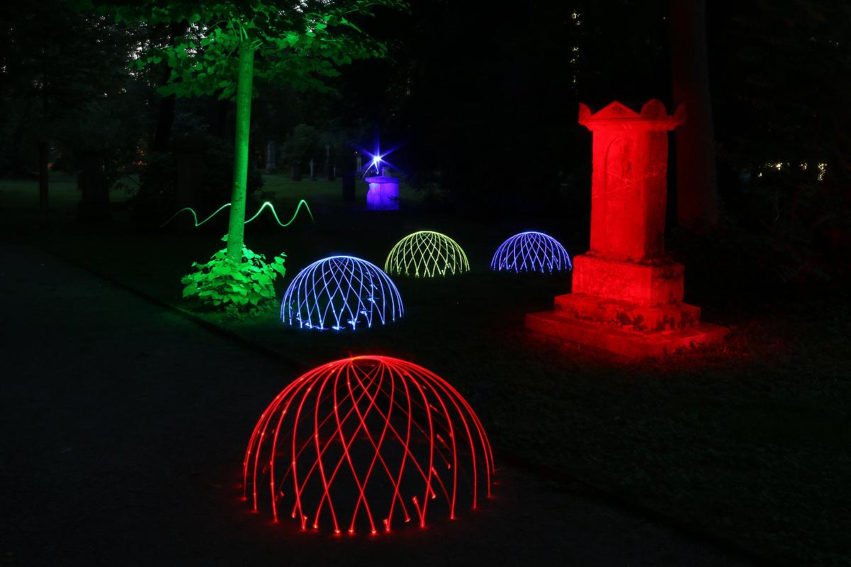 Lightpainting Domes