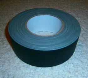 Gewebeband bzw. Isolierband, matt/schwarz