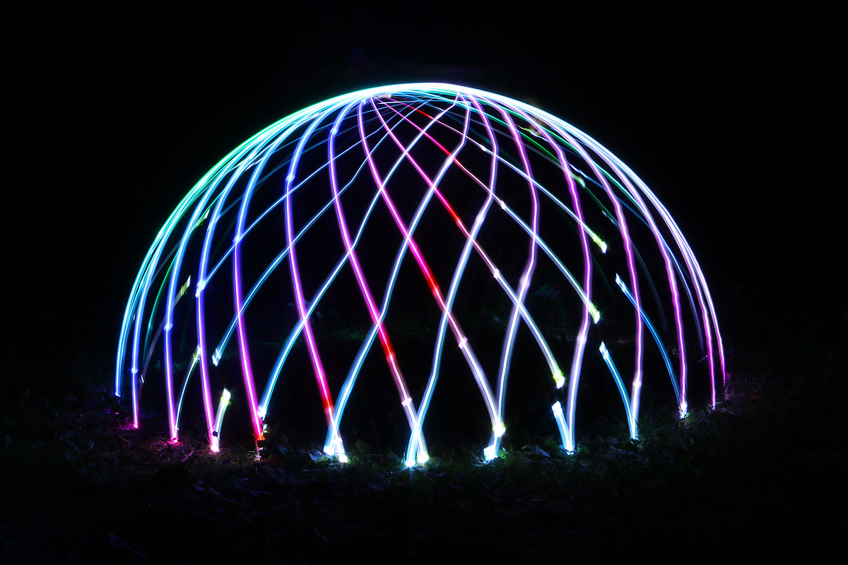 Lightpainting Dome - Fade Function