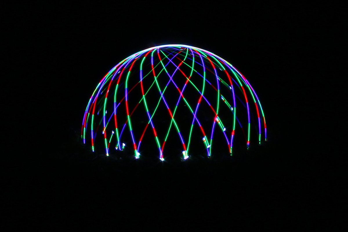 Lightpainting Dome - Jump Function