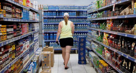 hopping at Au Bon Marché supermarket
