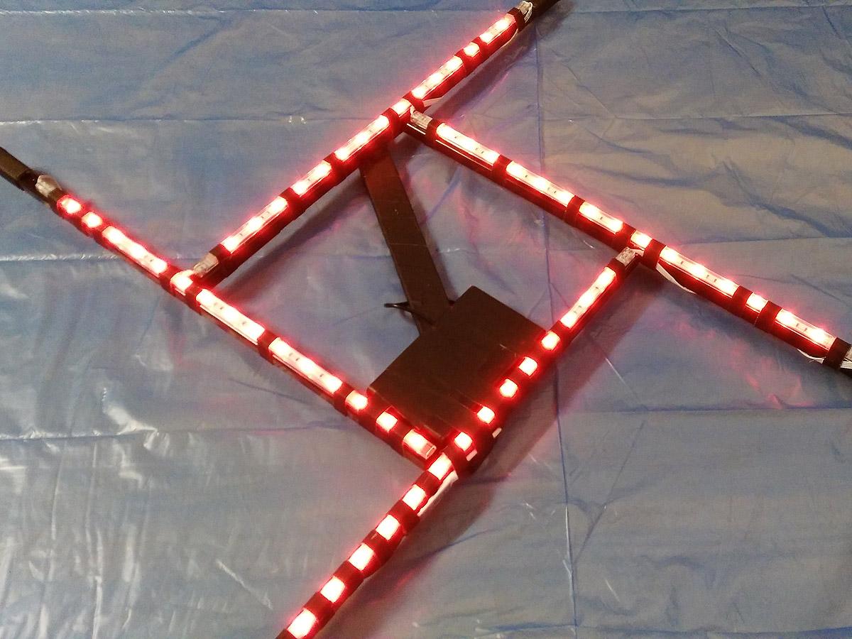 Das fertig gestellte Lightpainting Square