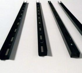 Regal Wandschienen, 4 Stück, schwarz
