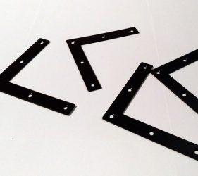 Winkel passend als Verbindung der Wandschienen