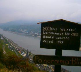 Panoramablick auf Lorchhausen