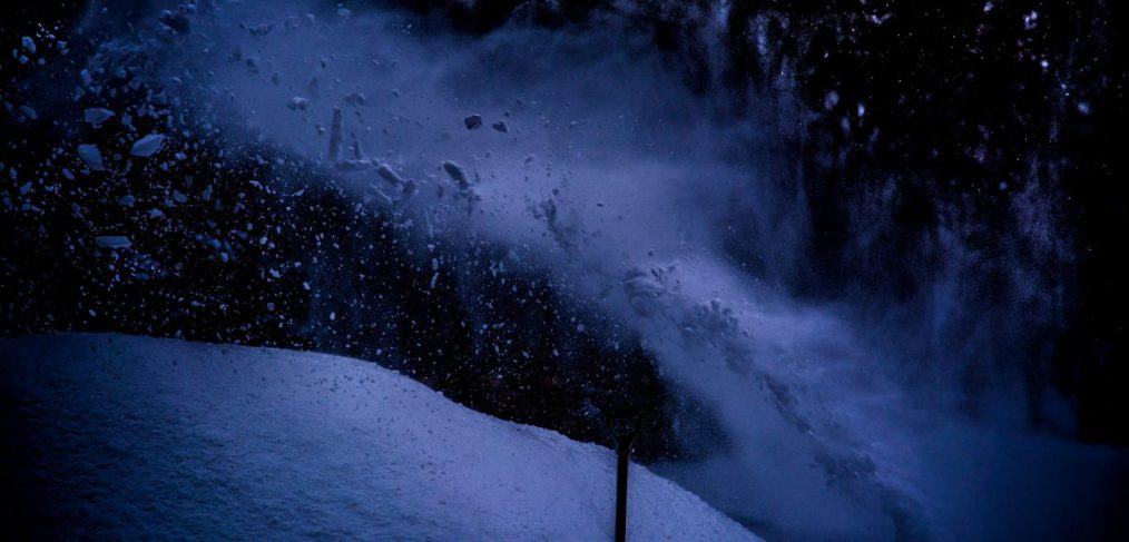 Stop Action Snow Blowing